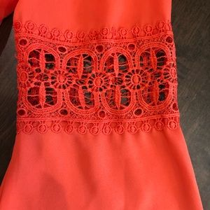 Almost Famous Dresses - Almost Famous Coral Bell Sleeve Dress
